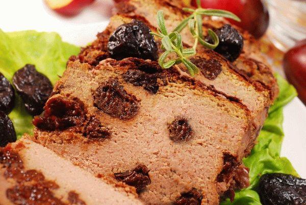 Печеночный паштет с черносливом