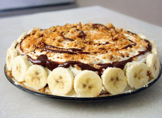 Домашний банановый торт за полчаса