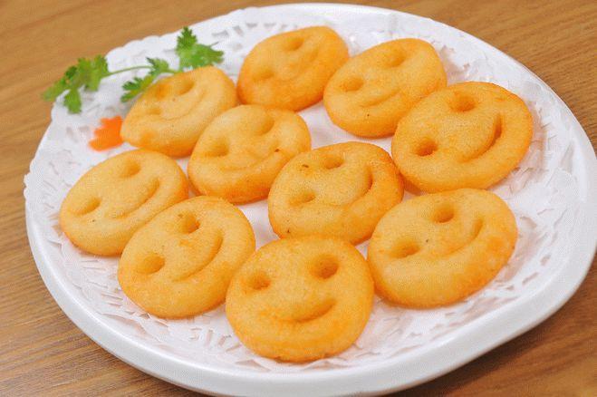 Картофельный гарнир «Смайлики»