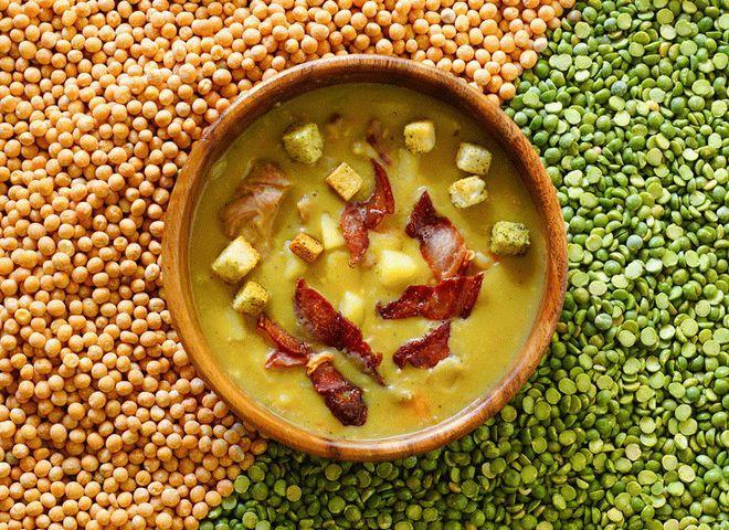 Рецепт горохового супа с копченостями