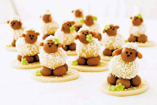 Десерты для детей: Милые овечки
