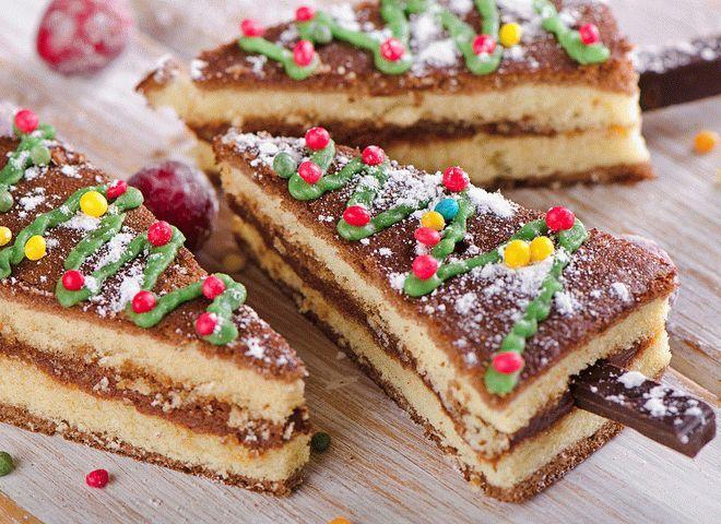 Торт на Новый год «Еловый лес»
