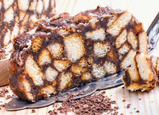 Низкокалорийный торт из печенья без выпечки