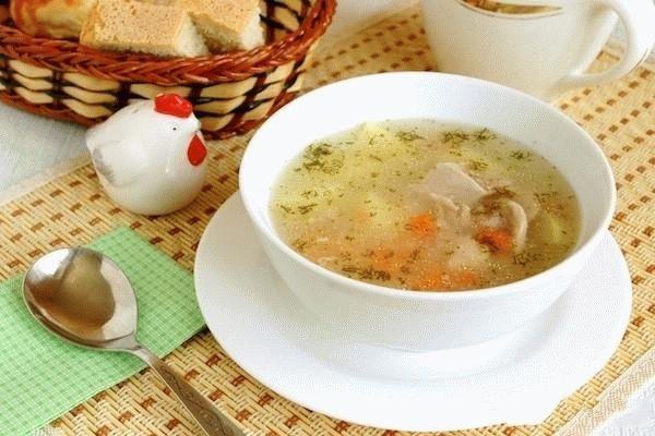 Суп из кролика с рисом
