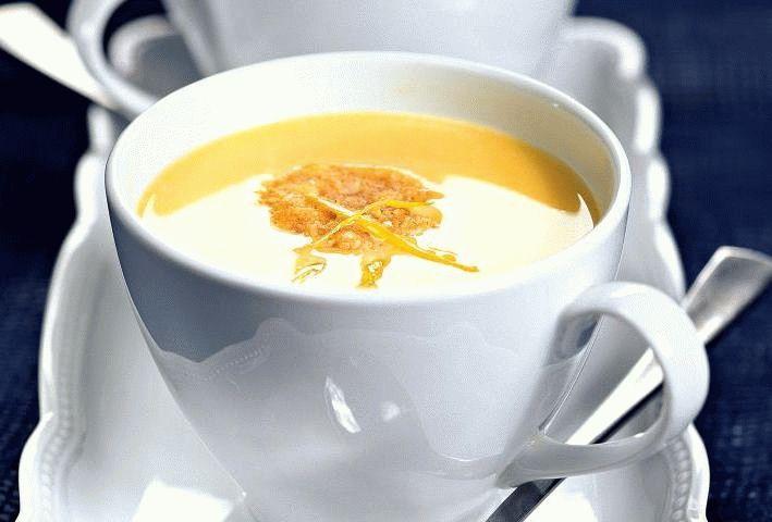 Тыквенный суп-пюре со сливками