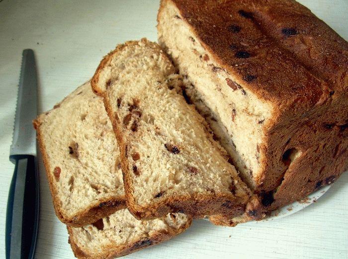 Хлеб с изюмом в хлебопечке