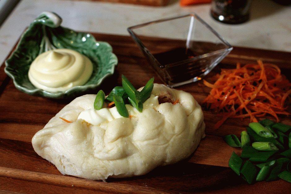 Корейские паровые пирожки