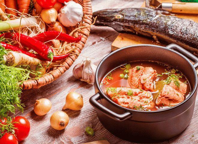 Постный борщ: рецепт с рыбой