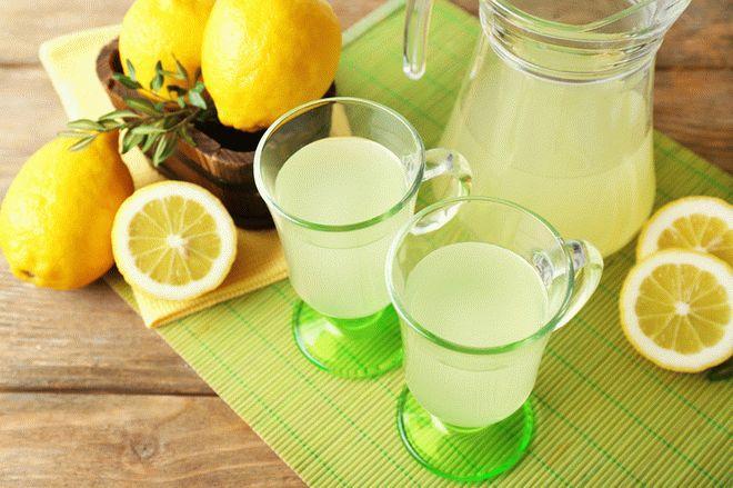 Березовый сок с лимоном