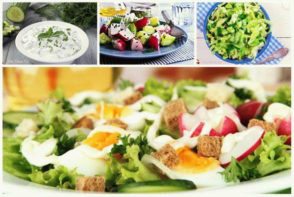 Простые весенние салаты: ТОП-5 рецептов салата из свежих огурцов