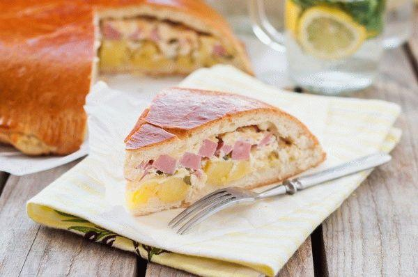 Пирог с картофелем и ветчиной