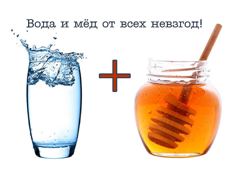 Фото Вода с медом – универсальное средство для поддержания иммунитета