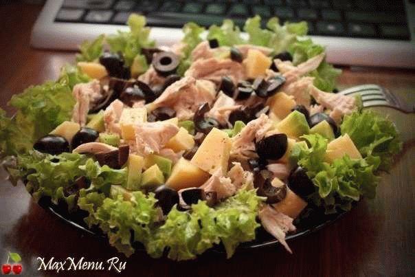 Салат с курицей и маслинами MaxMenu.Ru - Кулинарные рецепты