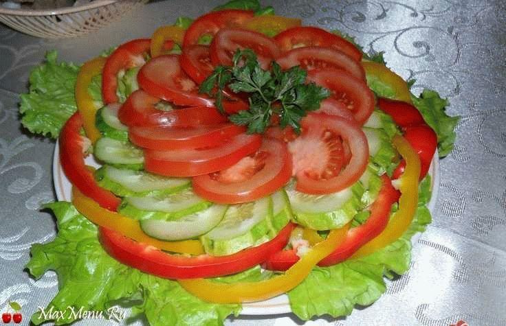 Как сделать красиво овощную нарезку