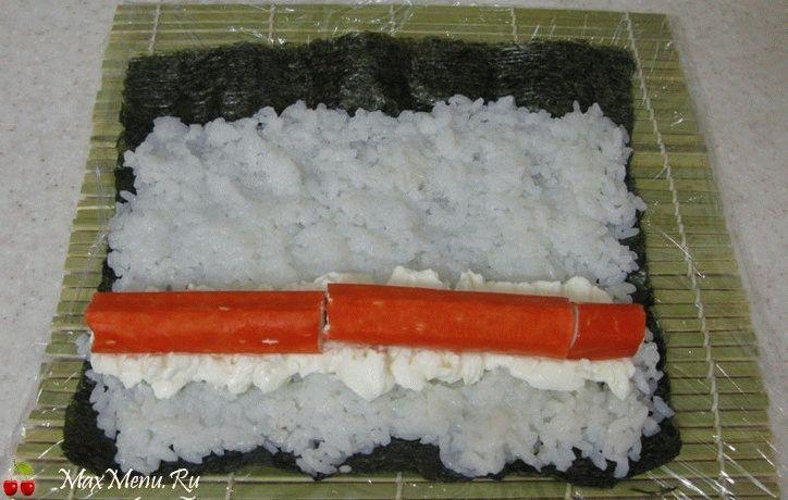 Суши в домашних условиях с крабовыми палочками с фото