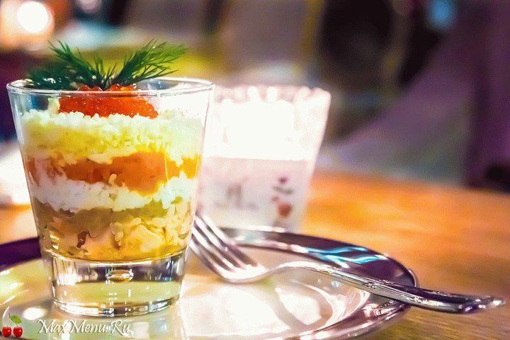 142Рецепт салата из морепродуктов с икрой красной рецепты