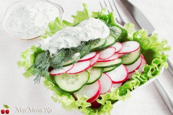 Салат из редиски с огурцом калорийность