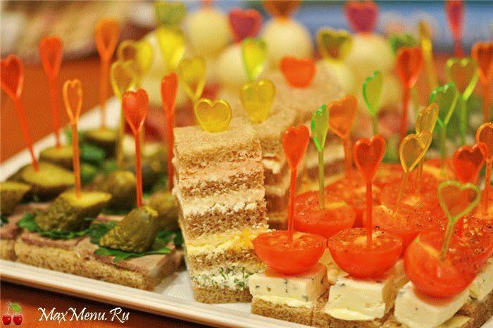 Праздничные канапеы с фото на день рождения