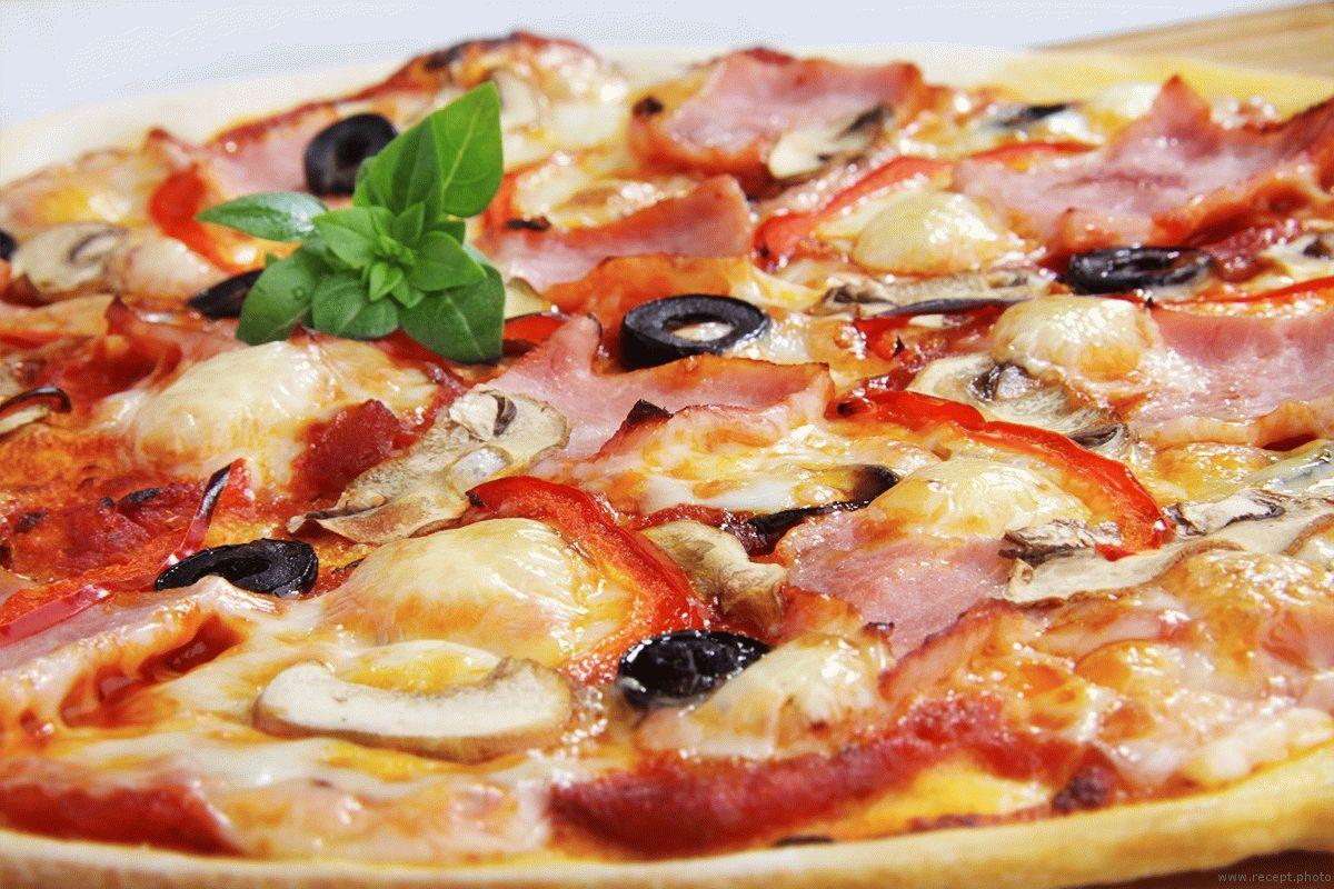 Пицца ветчина и грибы рецепт