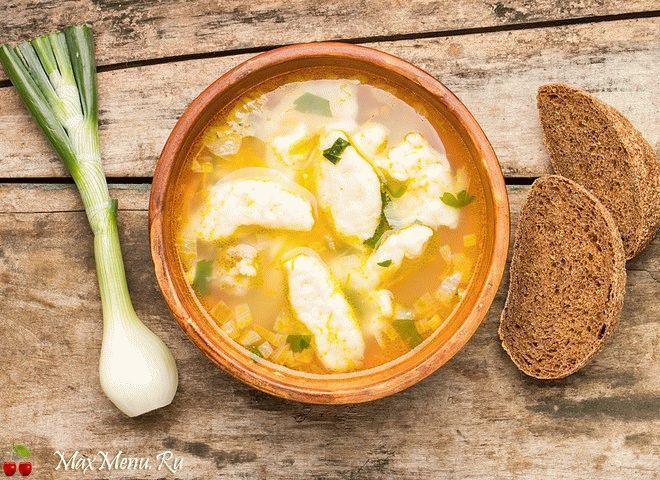 суп с клецками рецепт приготовления в домашних